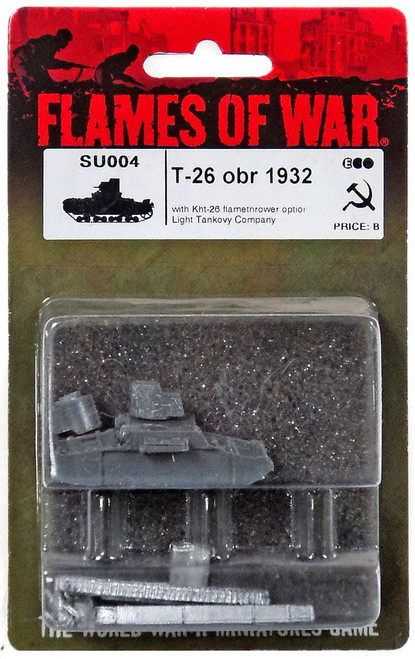 Flames of War T-26 obr 1932 Miniature SU004 [with Kht-26 Flamethrower Option Light Tankovy Company]