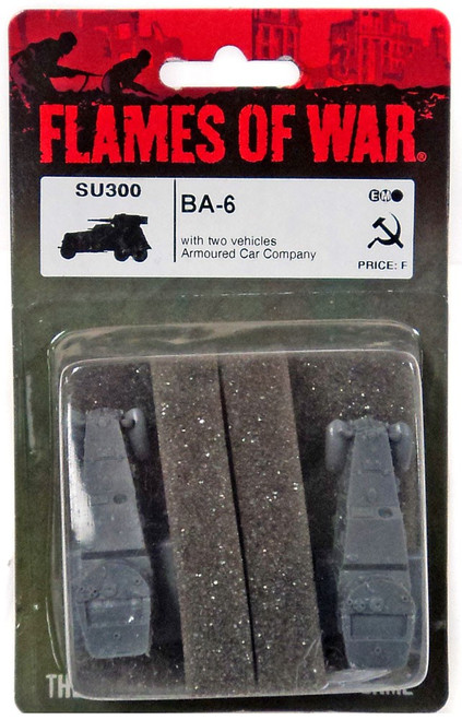 Flames of War BA-6 Miniature SU300 [with Two Vehicles Armoured Car Company]