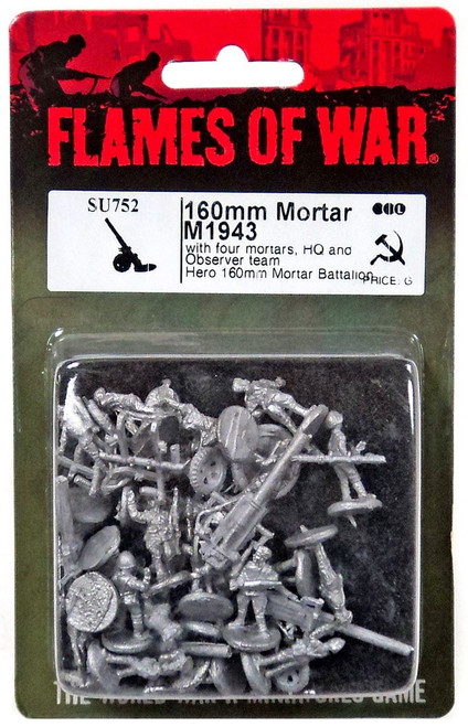 Flames of War 160mm Mortar M1943 Miniature SU752 [with four mortars, HQ and Observer team Hero 160mm Mortar Battalion]