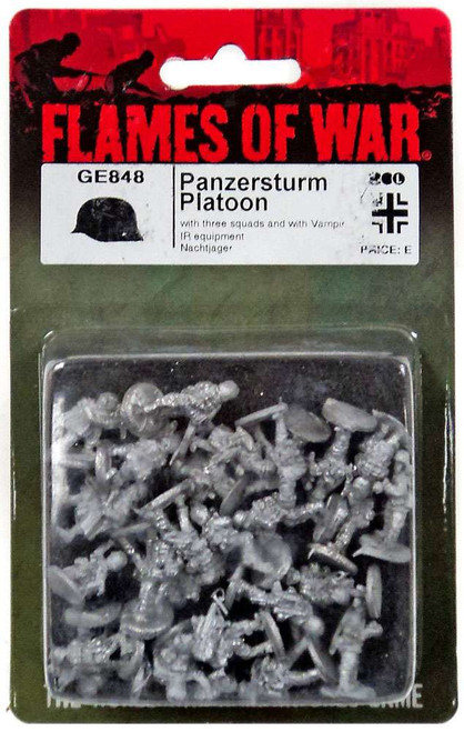 Flames of War Panzersturm Platoon Miniature SU752 [with Three squads and with Vampir IR Equipment Nachtjager]