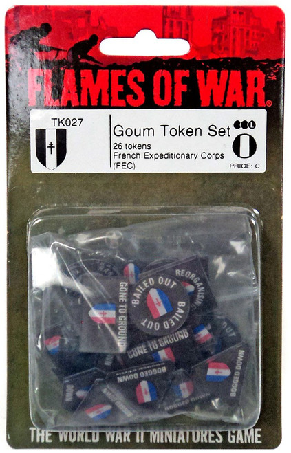 Flames of War Goum Token Set Miniature TK027 [26 Tokens French Expeditionary Corps(FEC)]