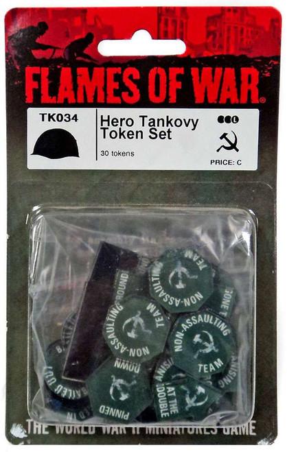 Flames of War Hero Tankovy Token Set Miniature TK034 [30 Tokens]