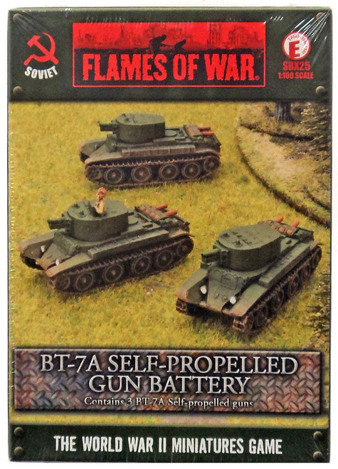 Flames of War BT-7A Self-Propelled Gun Battery Miniatures BBX25 [3 BT-7A Self Propelled Guns]