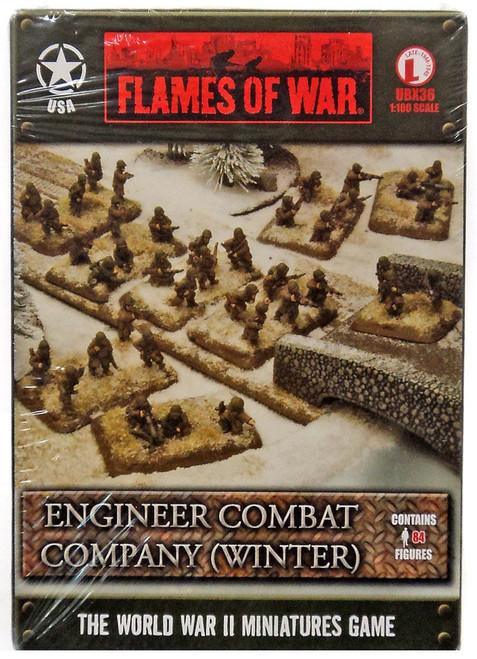 Flames of War Engineer Combat Company (Winter) Miniatures UBX36 [84 Figures]