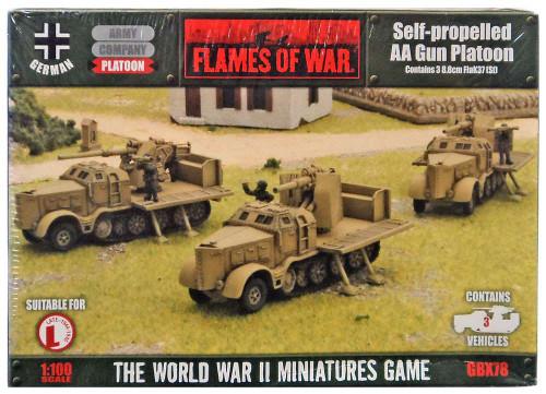 Flames of War Self-Propelled AA Gun Platoon Miniatures GBX78 [3 8.8cm FlaK37 [Sf]]