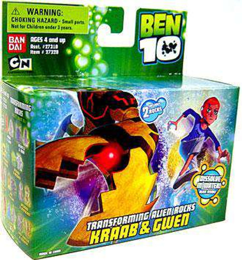 Ben 10 Transforming Alien Rocks Kraab & Gwen 1-Inch Mini Figure Set [Loose]