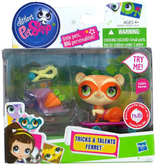 Littlest Pet Shop Tricks & Talents Ferret Figure #2391 [Damaged Package]
