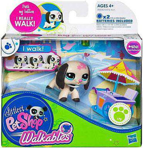 Littlest Pet Shop Walkables Dachshund Figure #2381 [Damaged Package]