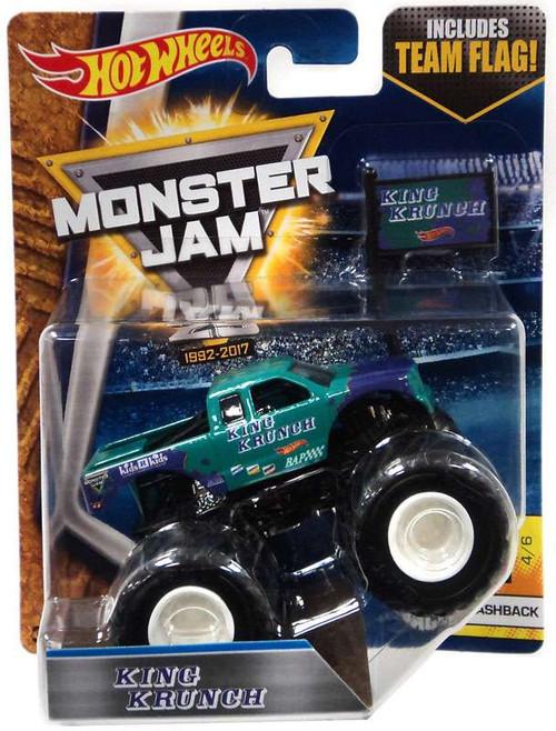 Hot Wheels Monster Jam 25 King Krunch Die-Cast Car #4/6 [Flashback, Team Flag]