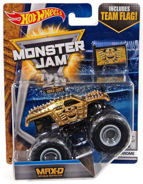 Hot Wheels Monster Jam 25 Max-d Die-Cast Car #5/7 [Chrome]