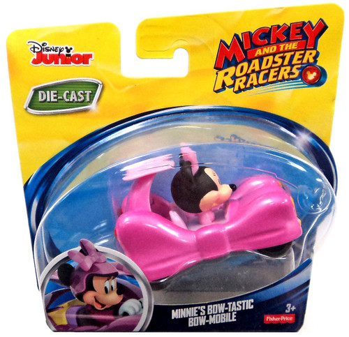 Fisher Price Disney Mickey & Roadster Racers Minnie's Bow-Tastic Bow-Mobile Diecast Vehicle