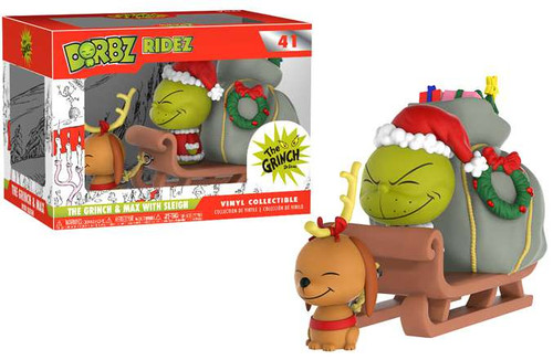 Funko Dr. Seuss How the Grinch Stole Christmas! Dorbz Ridez The Grinch & Max Vinyl Collectible #41