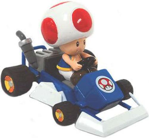 Nintendo Mario Kart Gashopan Toad Pull Back Racer