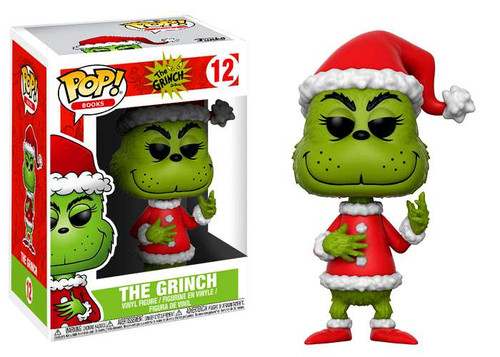 Funko Dr. Seuss POP! Books Santa Grinch Vinyl Figure #12 [Green, Regular Version]