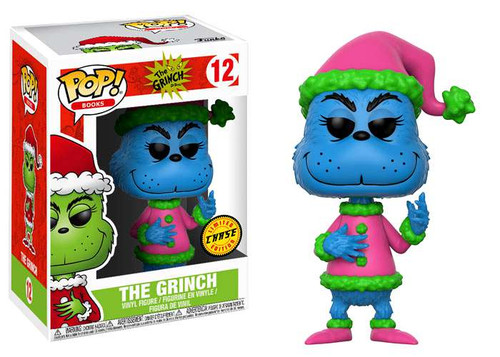Funko Dr. Seuss POP! Books Santa Grinch Vinyl Figure #12 [Blue, Chase Version]