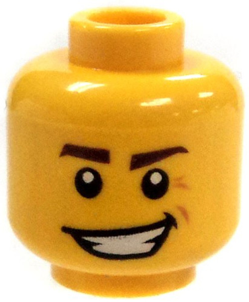 LEGO Yellow Head with Evil Grin and Dimple Head [Loose]