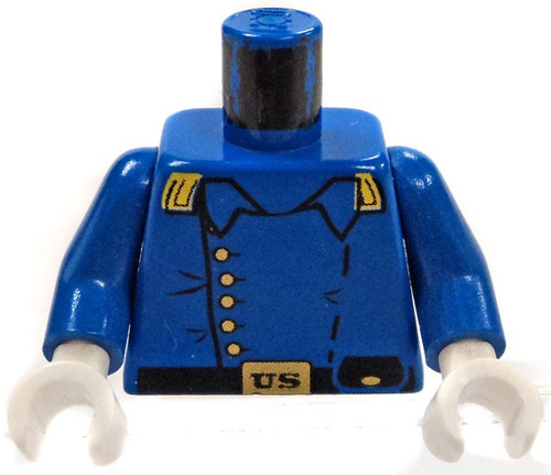 LEGO U.S Cavalry Torso with 5 Buttons Loose Torso [Loose]