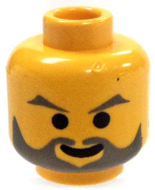 LEGO Yellow Head with Full Gray Beard and Eyebrows Head [Loose]