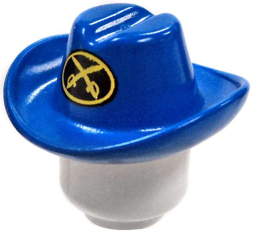 Blue Cowboy Hat with Two Crossed Cutlasses Minifigure Accessory [Loose]