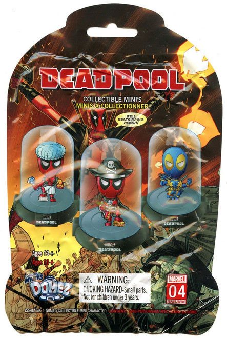Marvel Domez Series 4 Deadpool Mystery Pack