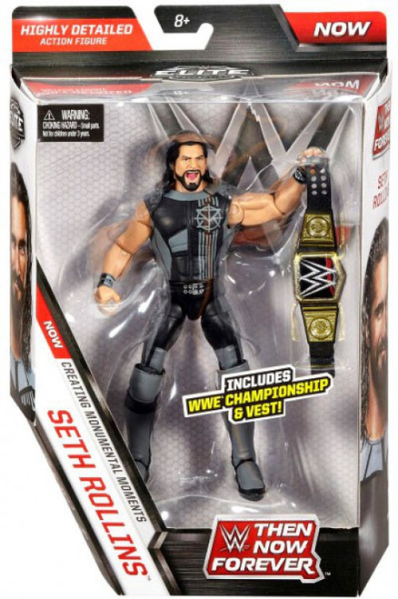 WWE Wrestling Elite Collection Then Now Forever Seth Rollins Action Figure [WWE Championship & Vest]