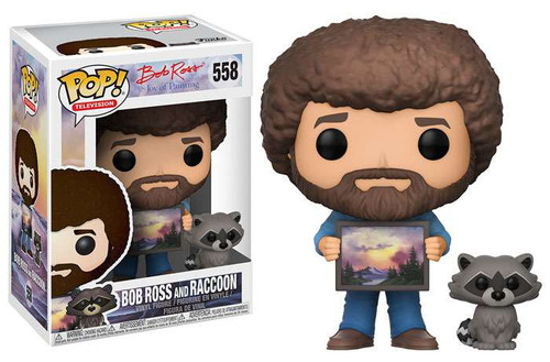 Funko Joy of Painting POP! TV Bob Ross & Raccoon Vinyl Figure #558 [Regular Version]