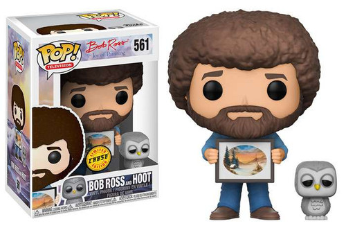 Funko Joy of Painting POP! TV Bob Ross & Hoot Vinyl Figure #561 [Chase Version]