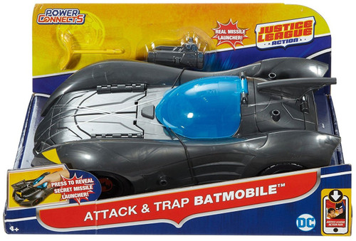 Justice League Action JLA Attack & Trap Batmobile 4.5-Inch Vehicle
