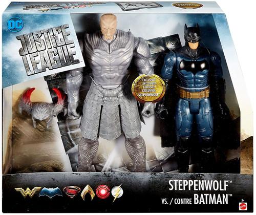 DC Justice League Movie Steppenwolf vs. Contre Batman Action Figure 2-Pack [True Moves]