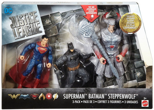 DC Justice League Movie Battle in a Box Superman, Batman & Steppenwolf Action Figure 3-Pack
