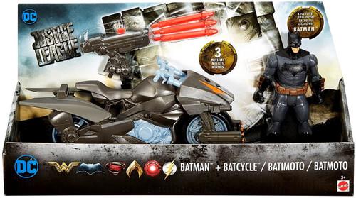 DC Justice League Movie Batman & Batcycle 6-Inch Figure & Vehicle