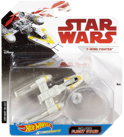 Hot Wheels Star Wars Starships Y-Wing Fighter Diecast Car