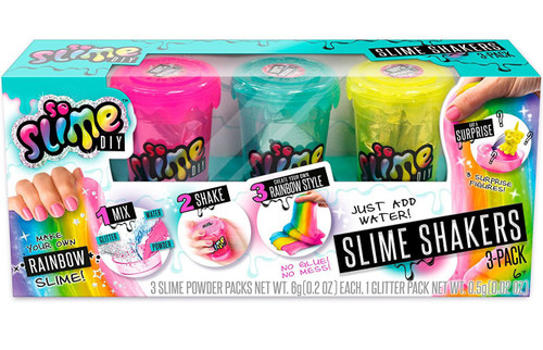 So Slime DIY Slime Shaker Rainbow 3-Pack [Pink, Blue & Yellow]