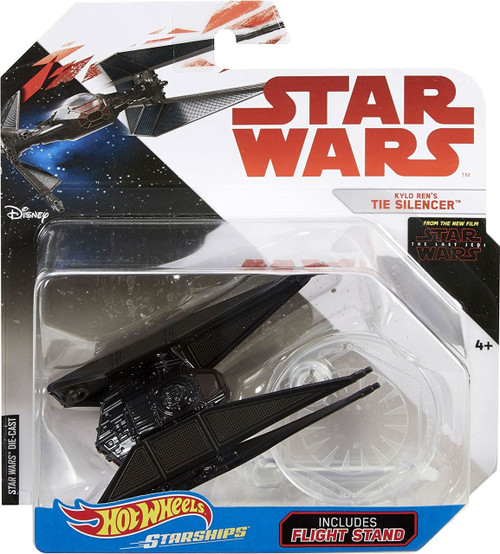 Hot Wheels Star Wars Starships Kylo Ren's TIE Silencer Diecast Car
