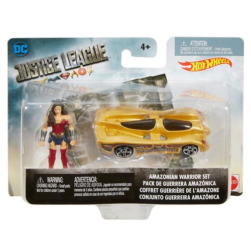 Hot Wheels Justice League Movie Mighty Minis Amazonian Warrior Set 2-Inch Diecast Car & Mini Figure [Wonder Woman!]