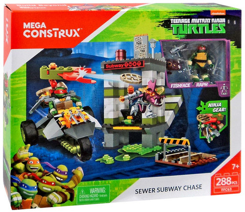 Mega Construx Teenage Mutant Ninja Turtles Sewer Subway Chase Set