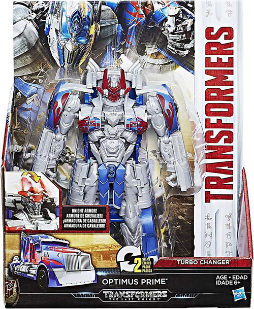 Transformers The Last Knight 2 Step Turbo Changer Optimus Prime Action Figure [Damaged Package]