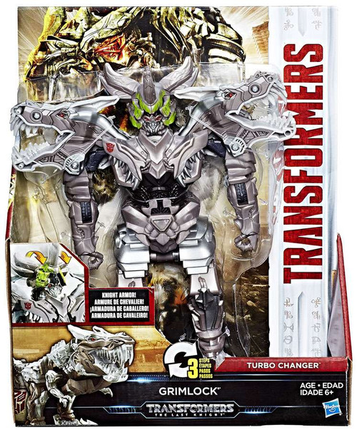 Transformers The Last Knight 2 Step Turbo Changer Grimlock Action Figure [Damaged Package]