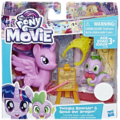 My Little Pony The Movie Twilight Sparkle & Spike the Dragon Exclusive Figure 2-Pack [Friendship Lesson]