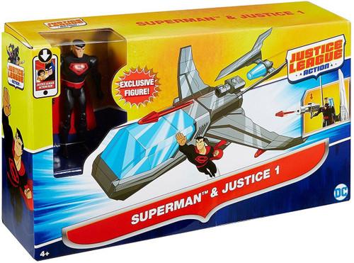 Justice League Action JLA Superman & Justice 1 Action Figure & Vehicle