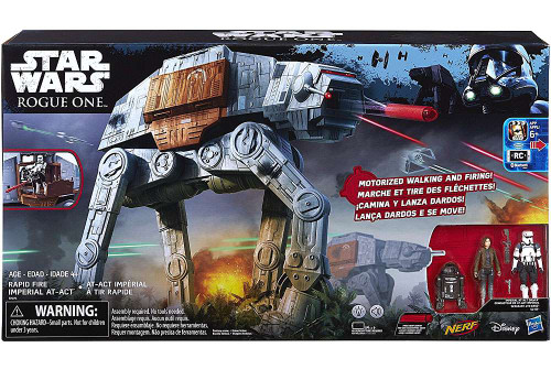 Star Wars Rogue One Rapid Fire Imperial AT-ACT Action Figure Set [Damaged Package]