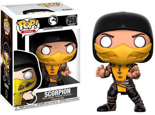 Funko Mortal Kombat POP! Games Scorpion Vinyl Figure #250