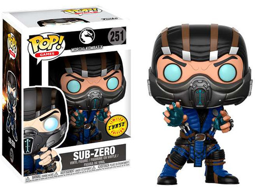 Funko Mortal Kombat POP! Games Sub-Zero Vinyl Figure #251 [Chase Version]