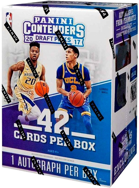 NBA Panini 2017-18 Contenders Draft Picks Basketball Trading Card BLASTER Box [7 Packs, 1 Autograph]