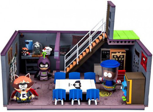 McFarlane Toys South Park Cartman's Basement with The Coon, Mysterion & Tupper Wear Exclusive Large Construction Set
