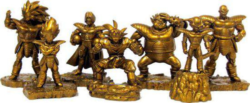 Set of 7 ALL GOLD Rival 3.5 Inch PVC Mini Figures PVC Figure 7-Pack Set