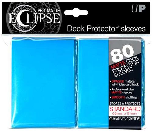 Ultra Pro Card Supplies Eclipse Pro-Matte Light Blue Standard Card Sleeves [80 Count]