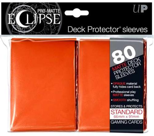Ultra Pro Card Supplies Eclipse Pro-Matte Orange Standard Card Sleeves [80 Count]