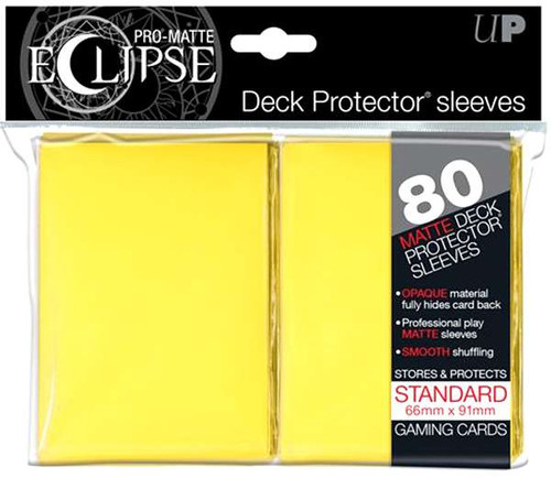 Ultra Pro Card Supplies Eclipse Pro-Matte Yellow Standard Card Sleeves [80 Count]