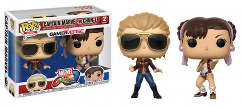 Funko Marvel Gamerverse Marvel vs Capcom: Infinite POP! Games Captain Marvel vs Chun-Li Vinyl Figure 2-Pack